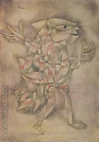 Little Jester in a Trance 1929 - Paul Klee reproduction oil painting
