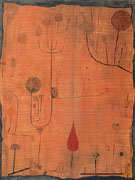 Fruits on Red 1930 - Paul Klee reproduction oil painting