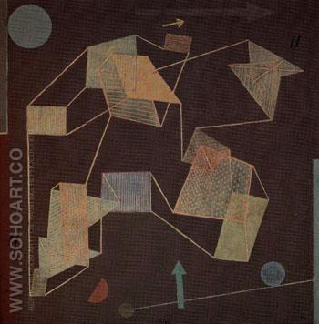 Uplift and Direction Glider Flight 1932 - Paul Klee reproduction oil painting