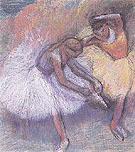 Two Dancers c1898 - Edgar Degas
