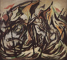 Jackson Pollock Composition with Figures and Banners c1934