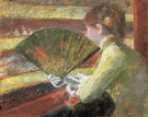 At the Theater 1879 - Mary Cassatt reproduction oil painting