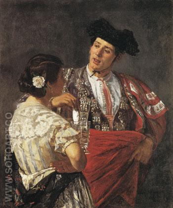 Offering the Panal to the Bullfighter 1872 - Mary Cassatt reproduction oil painting