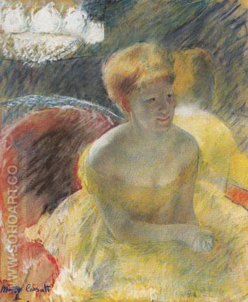 Lydia Leaning on her Arms Seated in a Loge c1879 - Mary Cassatt reproduction oil painting