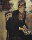 Mary Cassatt Seated Holding Cards c1880 - Mary Cassatt