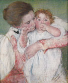 Mary Cassatt Little Ann Sucking her Finger Embraced by her Mother 1897