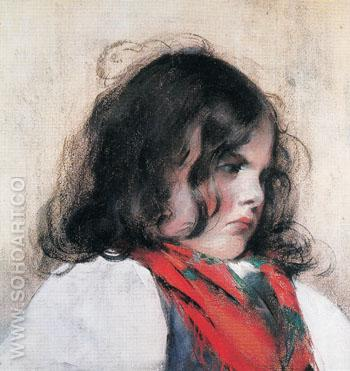 Head of a Child - Mary Cassatt reproduction oil painting