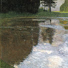 A Morning by the Pond 1899 - Gustav Klimt reproduction oil painting