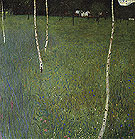 Farmhouse with Birch Trees 1900 - Gustav Klimt reproduction oil painting