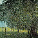 Gustav Klimt Fruit Trees by the Lake 1901
