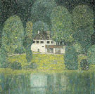 The Litzlbergkeller on the Attersee 1915 - Gustav Klimt reproduction oil painting