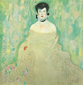 Amalie Zuckerkandl 1917 - Gustav Klimt reproduction oil painting