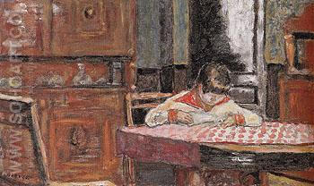 Interior with Boy 1910 - Pierre Bonnard reproduction oil painting