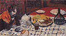 The Checkered Table Cover c1925 - Pierre Bonnard reproduction oil painting