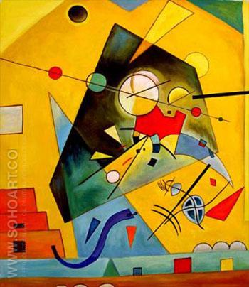 Harmony Squares with Concentric Ring 1913 - Wassily Kandinsky reproduction oil painting