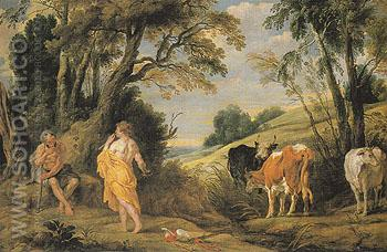 Mercury and Argus c1586 - Jacob Jardaens reproduction oil painting