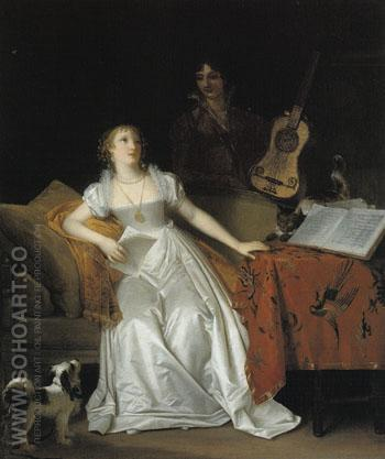 Prelude to a Concert c1810 - Marguerite Gerard reproduction oil painting