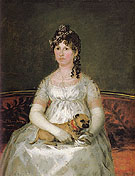 Francisco de Goya ya Lucientes Portrait of Dona Francisca Vicenta Chollet Y Caballero 1806