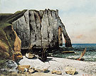 Gustave Courbet Cliffs at Etretat La Porte Daval 1869