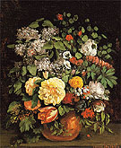 Vase of Lilacs Roses and Tulips 1863 - Gustave Courbet