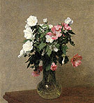 White and Pink Mallows in a Vase 1895 - I Fantin-latour