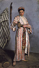 Frederic Bazille Woman in Moorish Costume 1869