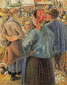 The Poultry Market at Pontoise 1882 - Camille Pissarro