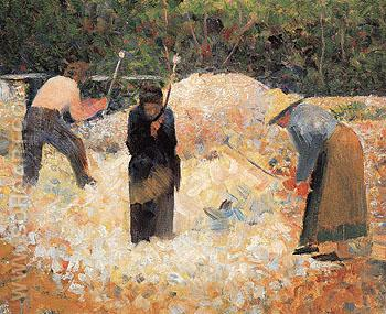 The Stone Breakers Le Raincy c1882 - Georges Seurat reproduction oil painting