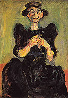 Chaim Soutine Woman Knitting c1924