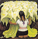 The Flowers Vendor 1941 - Diego Rivera