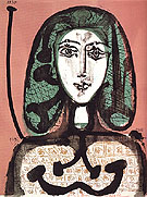 Woman with a Hairnet September 1956 - Pablo Picasso