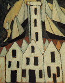 Marsden Hartley Movement No5 Provincetown Houses 1916