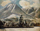 Mount Katahdin Maine First Snow No1 c1939 - Marsden Hartley