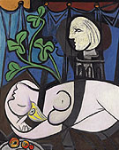Pablo Picasso Bust with Green Leaves 1932