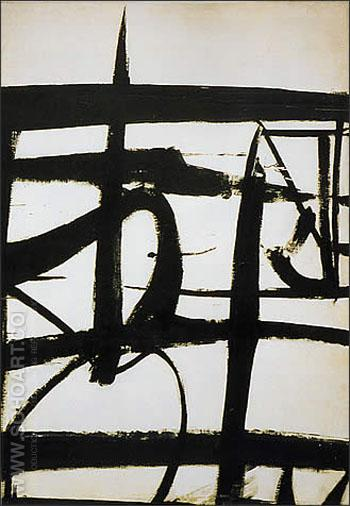 Cardinal 1950 - Franz Kline reproduction oil painting