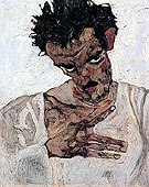 Self Portrait with Lowered Head 1912 - Egon Scheile
