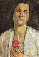 Clara Rilke Westhoff 1905 - Paula Modersohn-Becker reproduction oil painting