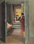 Felix Vallotton Interior with Woman in Red From Behind 1903