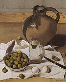Felix Vallotton Large Jug Pears and Eggs 1921