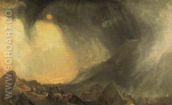 Snow Storm Hannibal and his Army Crossing the Alps 1812 - Joseph Mallord William Turner reproduction oil painting