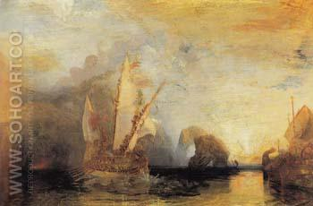 Ulysses Deriding Polyphemus Homers Odyssey 1829 - Joseph Mallord William Turner reproduction oil painting