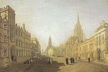 View of the High Street Oxford 1810 - Joseph Mallord William Turner reproduction oil painting