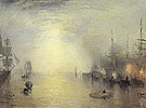 Keelmen Heaving in Coals by Night 1835 - Joseph Mallord William Turner reproduction oil painting