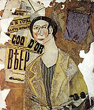 Portrait of Natalia Goncharova 1915 - Natalia Gontcharova