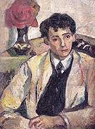 Portrait of the Artists Brother Afanasy Goncharova 1905 - Natalia Gontcharova