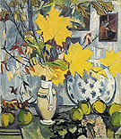 Natalia Gontcharova Autumn Bouquet Quince and Maple Leaves 1906