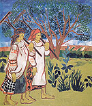Peasant Women with Rakes 1907 - Natalia Gontcharova