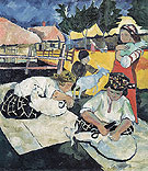 Natalia Gontcharova Shearing Sheep 1907