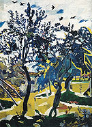 Natalia Gontcharova Windy Day 1907