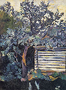 Natalia Gontcharova Trees and a Peasant Hut 1907